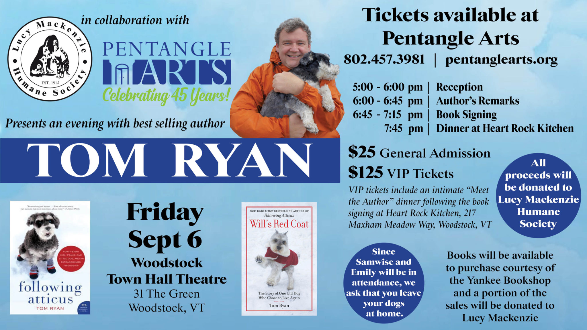 Tom Ryan appearance fundraiser event info